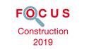 Couverture Focus Construction 2019