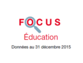 Couverture Focus Education 2015