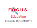 Couverture Focus Education 2016