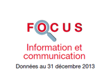 Couverture Focus Information et communication 2013