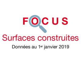 Couverture Focus Surfaces construites 2019