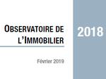 Couverture Observatoire Immobilier 2018
