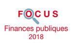 Couverture Focus Finances publiques 2018